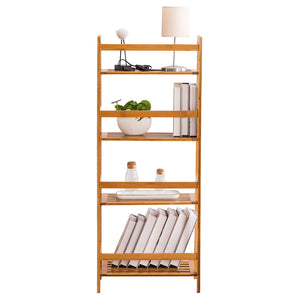 T-Shaped Bookshelf Wood Color