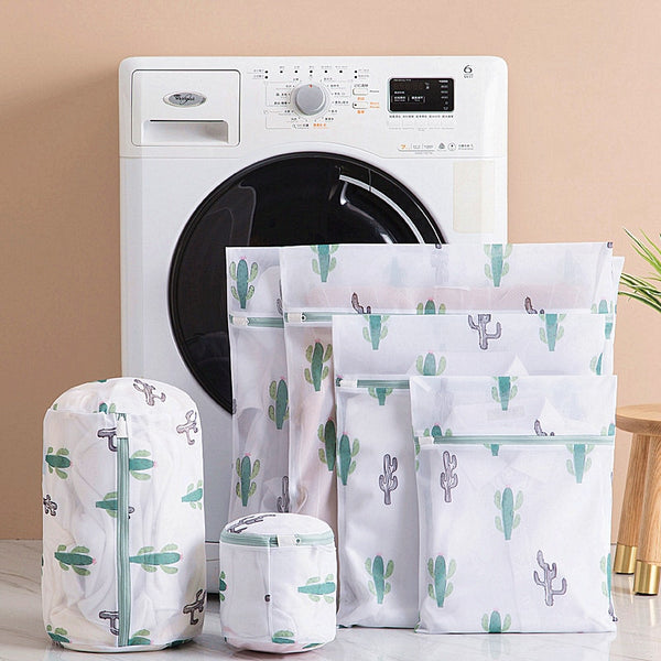 6-Pc Laundry Mesh Bag Set - Cactus