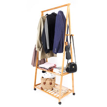 Load image into Gallery viewer, 2-Layer Portable Storage Clothes Hanger with Wheel