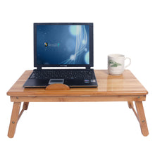 Load image into Gallery viewer, Trendy Adjustable Bamboo Computer Desk
