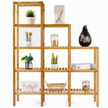 Load image into Gallery viewer, Multifunctional Bamboo Shelf Display Organizer