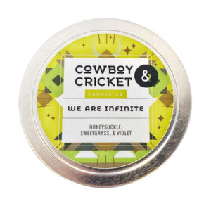 We Are Infinite Candle - Honeysuckle, Sweetgrass & Violet - The Perks of Being A Wallflower Inspired