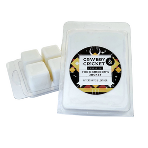 Poe Dameron's Jacket Wax Melt - Aftershave & Leather - Star Wars Inspired