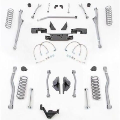 3.5 Inch JK Lift Kit Extreme Duty Long Arm System Radius Front 4 Link Rear No Shocks 07-18 Jeep Wrangler JKU 4 Dr Rubicon Express