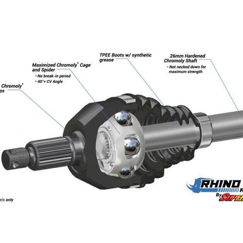 Polaris RZR 900 Heavy Duty Axles - Rhino 2.0