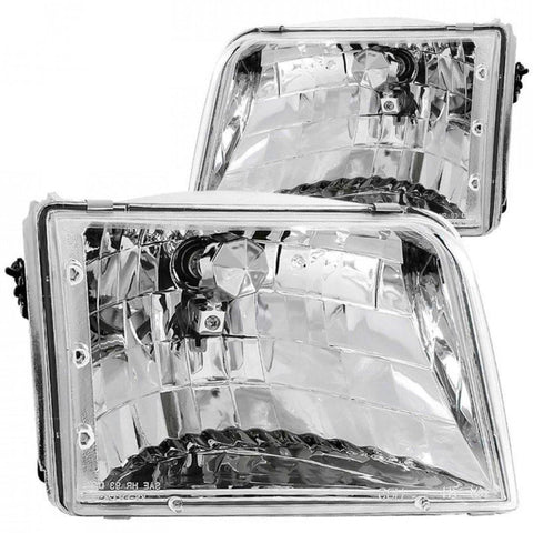 ANZO 1993-1997 Ford Ranger Crystal Headlights Chrome - MST Motorsports