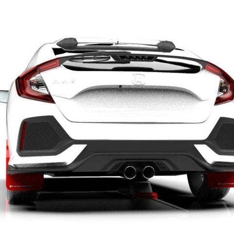 Rally Armor 17-19 Honda Civic Sport Touring Red UR Mud Flap w/ White Logo - MST Motorsports