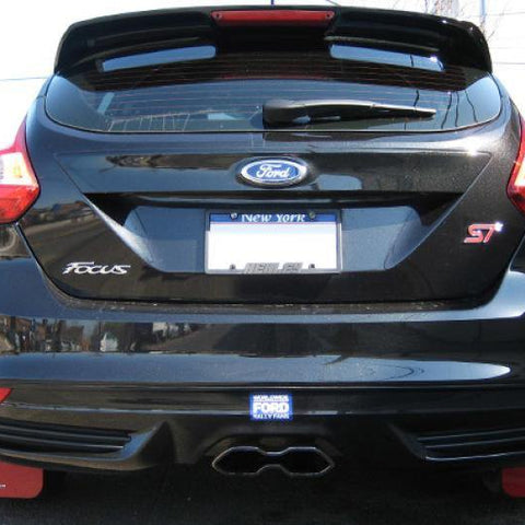 Rally Armor 13-16 Ford Focus ST /16-17 Focus RS UR Black Mud Flap with Nitrous Blue Logo - MST Motorsports