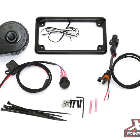 "RZR XP 2015+ Plug & Play® Power Adapter & Horn Kit with 6"" 6 LED License Frame - MST Motorsports"