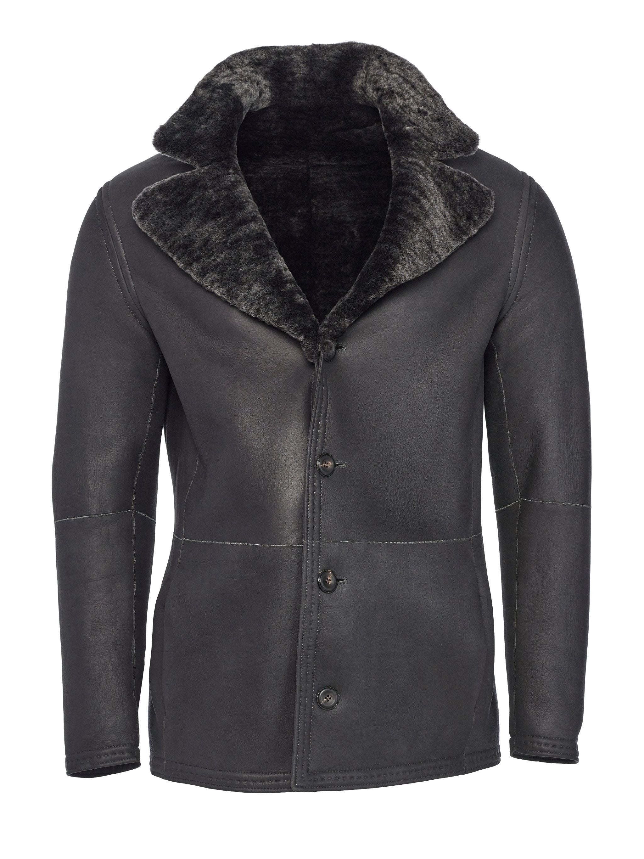 Nappa front side of reversible shearling