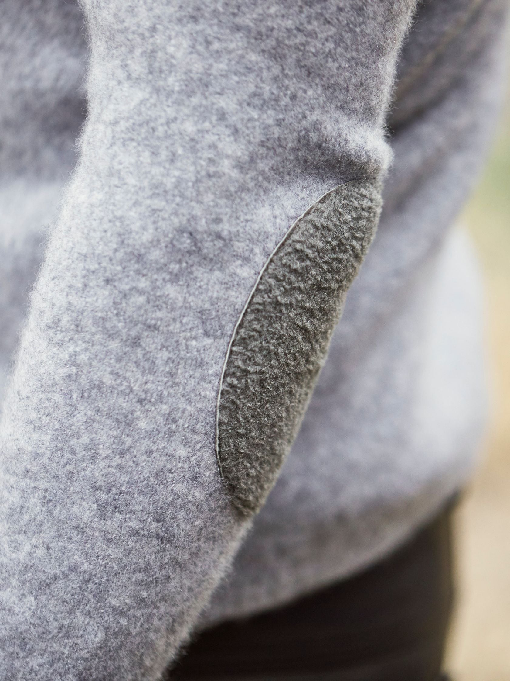 Baby Astrakhan lamb elbow patches protect super light cashmere fleece