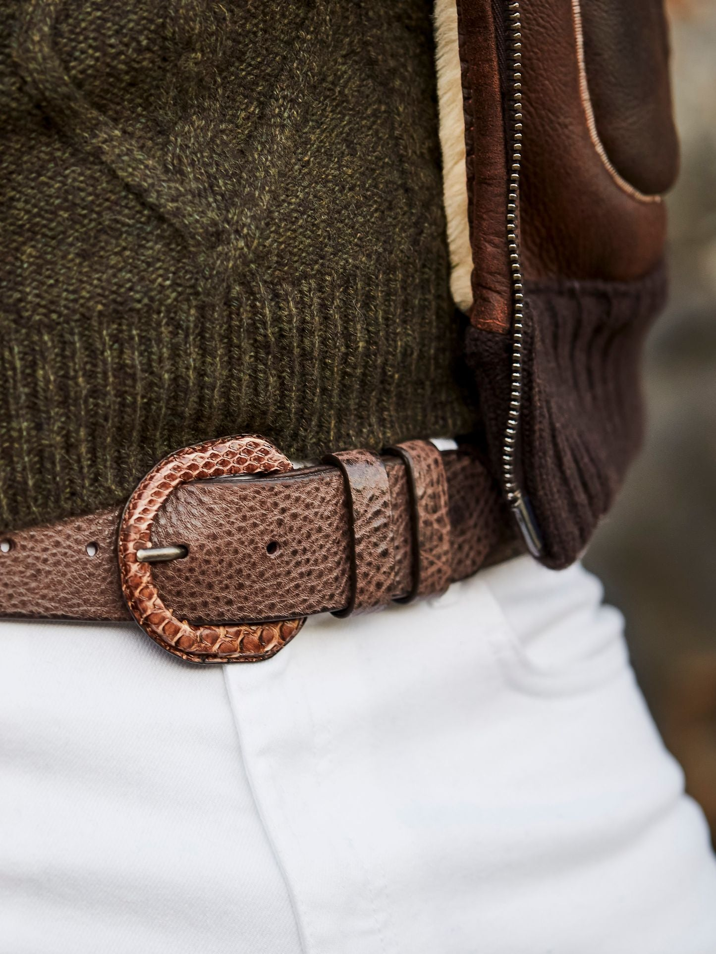 Python wrapped buckle