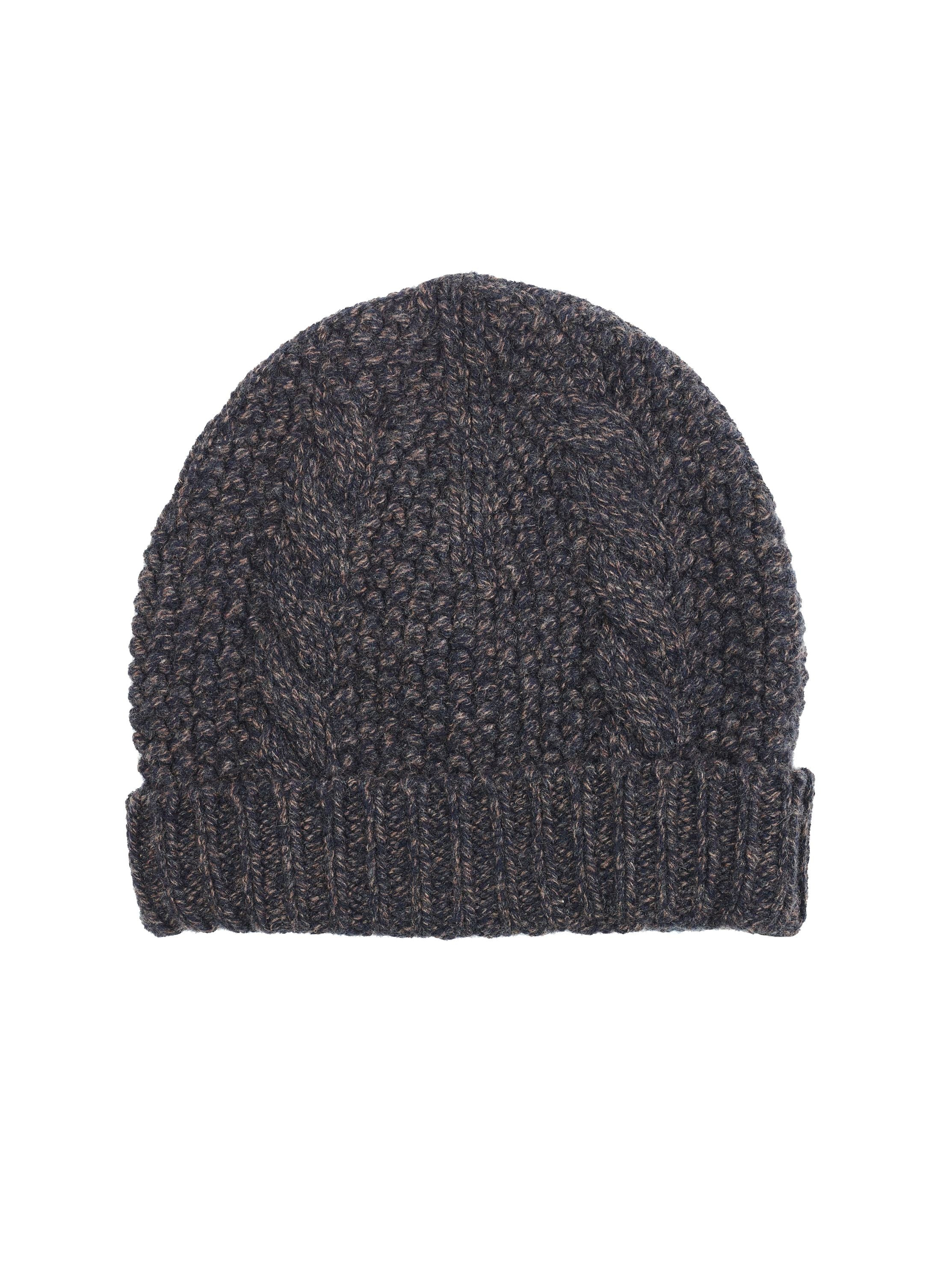 Separate cables emanate from the top of the hat to the brim