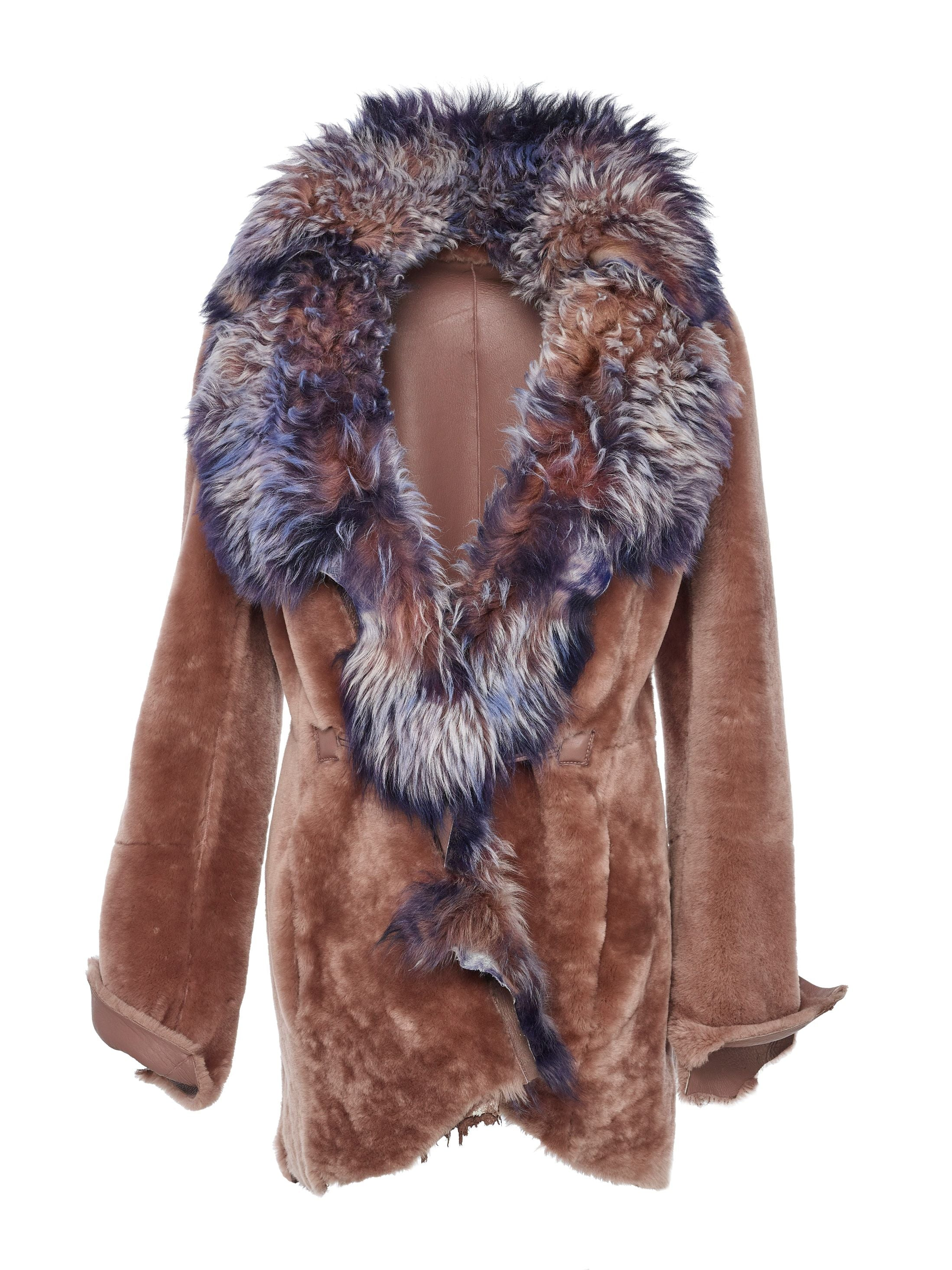 Spanish lamb blossoms with elegance upon reversing from nappa to luxuriously soft fur