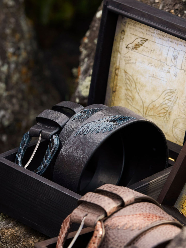 Raptor - Calf Hide & Python Leather Belt | Robert Comstock