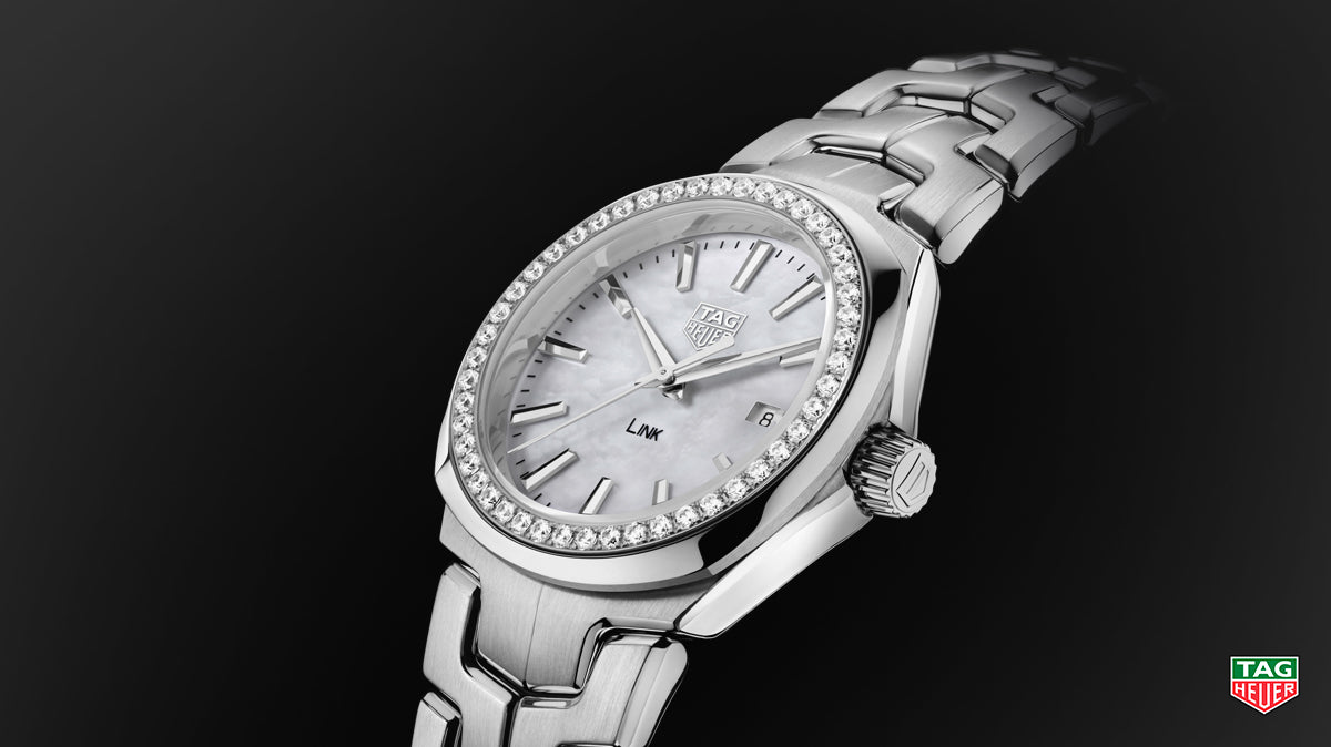 tag heuer, link, timepiece