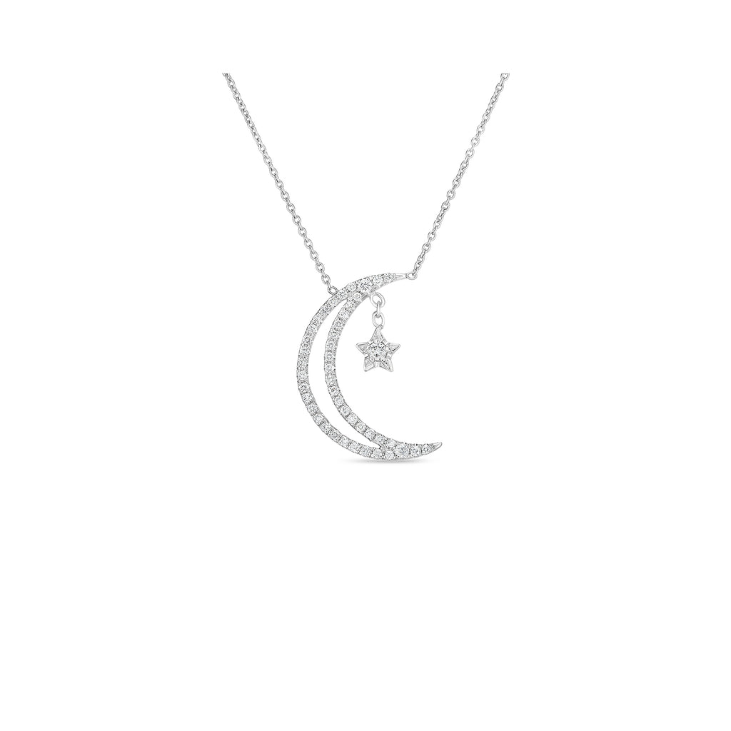 Roberto Coin Double Line Half Moon Necklace