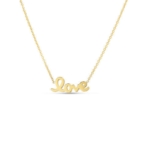 Roberto Coin Love Letter Necklace - Necklaces - CH Premier Jewelers