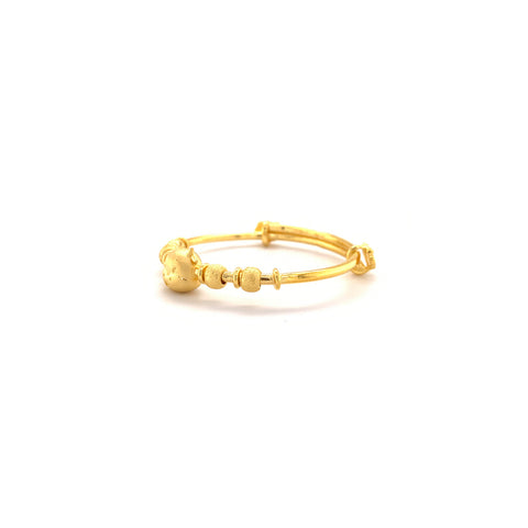 24K Gold Year of the Ox Baby Bangle