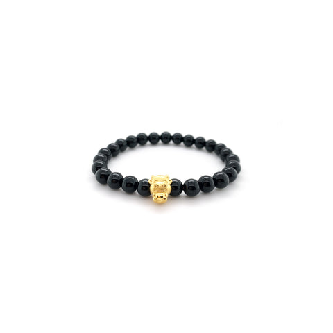24K Gold Year of the Ox Beaded Bracelet