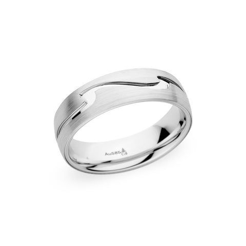 Christian Bauer 18K White Gold Band 6.5mm