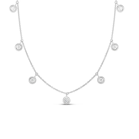 Roberto Coin Bezel Set Diamond Necklace - Necklaces - CH Premier Jewelers