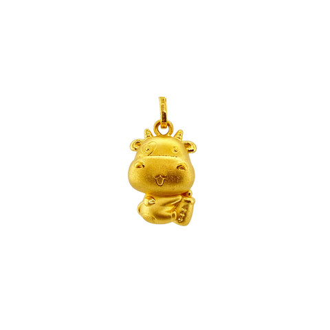 24K Gold Year of the Ox Pendant