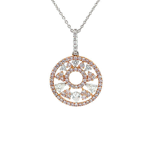 Round Diamond Pendant and Chain