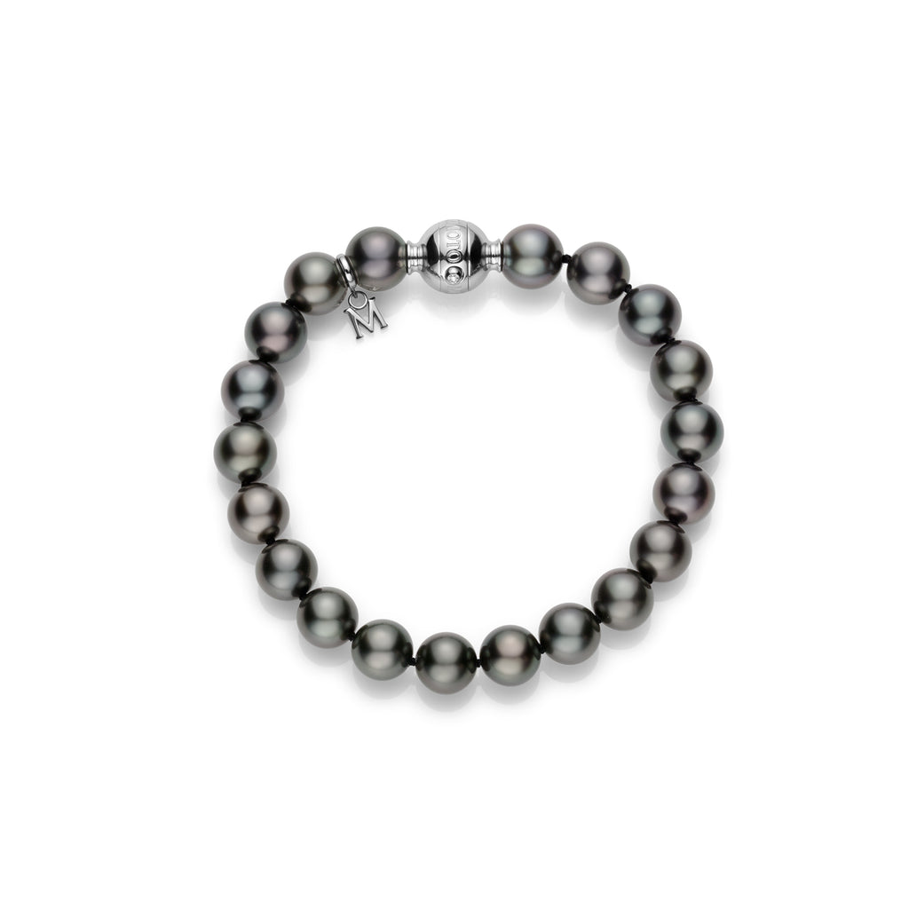 Mikimoto Black South Sea Cultured Pearl Bracelet - Bracelets - CH Premier Jewelers