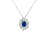 Sapphire Diamond Pendant and Chain - Necklaces - CH Premier Jewelers
