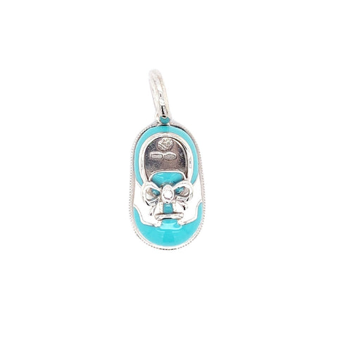 Aaron Basha 18K White Gold Baby Shoe Pendant - Charms - CH Premier Jewelers