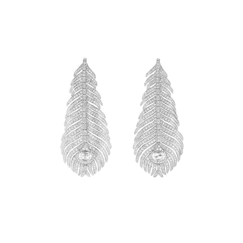 Boucheron Plume De Paon Pendant Earrings - JCO01073 - CH Premier Jewelers