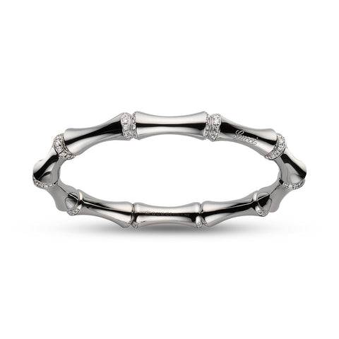 Gucci Bamboo Bracelet in White Gold - YBA246473001017 - CH Premier Jewelers