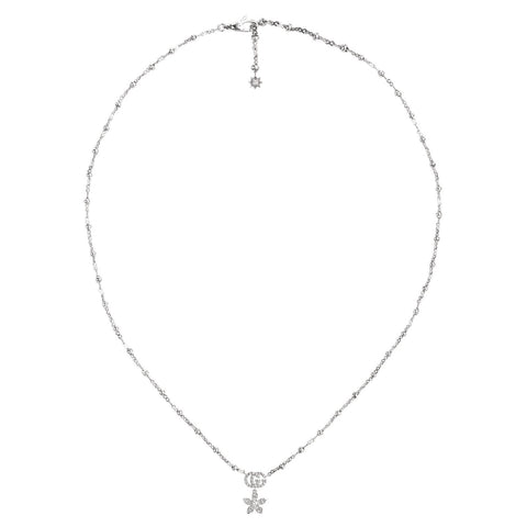 Gucci Flower and Double G Necklace with Diamonds - YBB58184200100U - CH Premier Jewelers