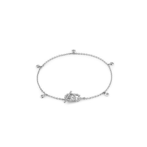 Gucci GG Running Bracelet with Diamonds - YBA481671002016 - CH Premier Jewelers