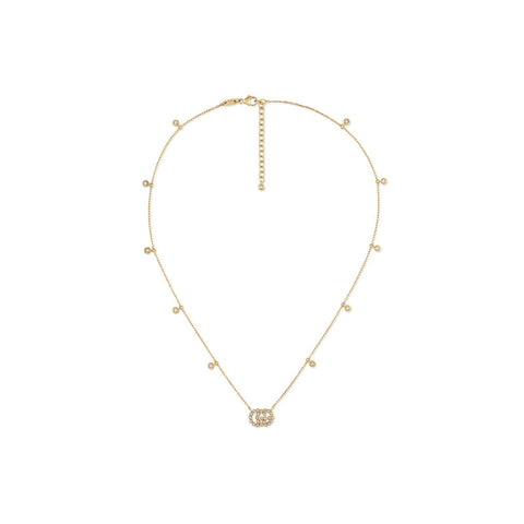 Gucci GG Running Necklace with Diamonds - YBB48162400100U - CH Premier Jewelers