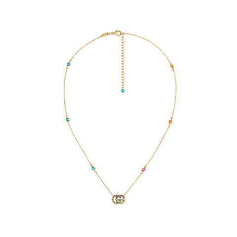 Gucci GG Running Necklace with Multicolor Stones - YBB48162300100U - CH Premier Jewelers