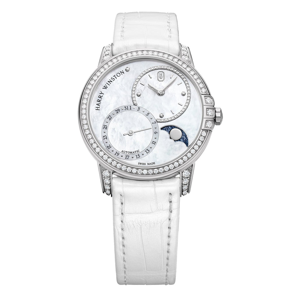 Harry Winston Midnight Date Moon Phase Automatic 36mm - MIDAMP36WW001 - CH Premier Jewelers