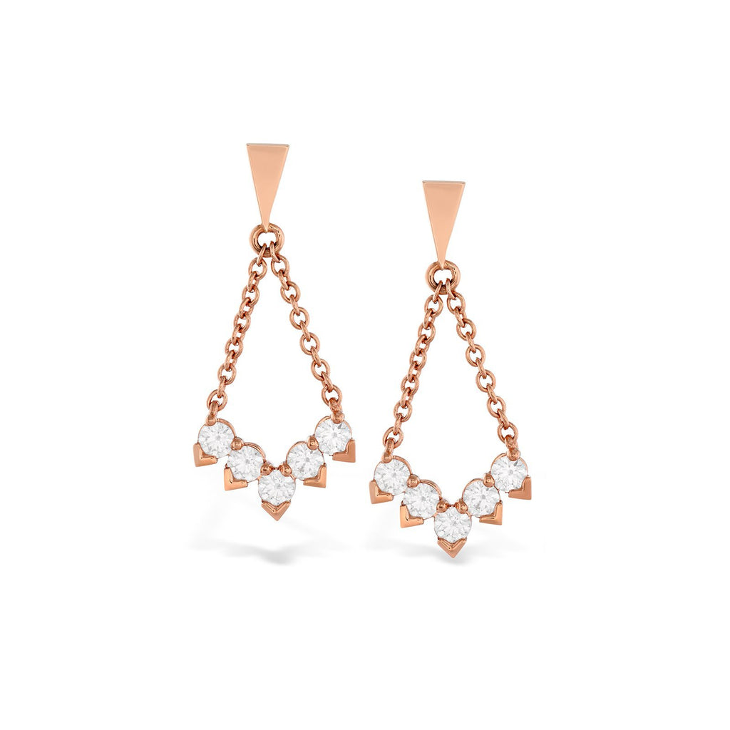 Hearts On Fire Aerial Diamond V Drop Earrings - HFEAERVD00808R - CH Premier Jewelers