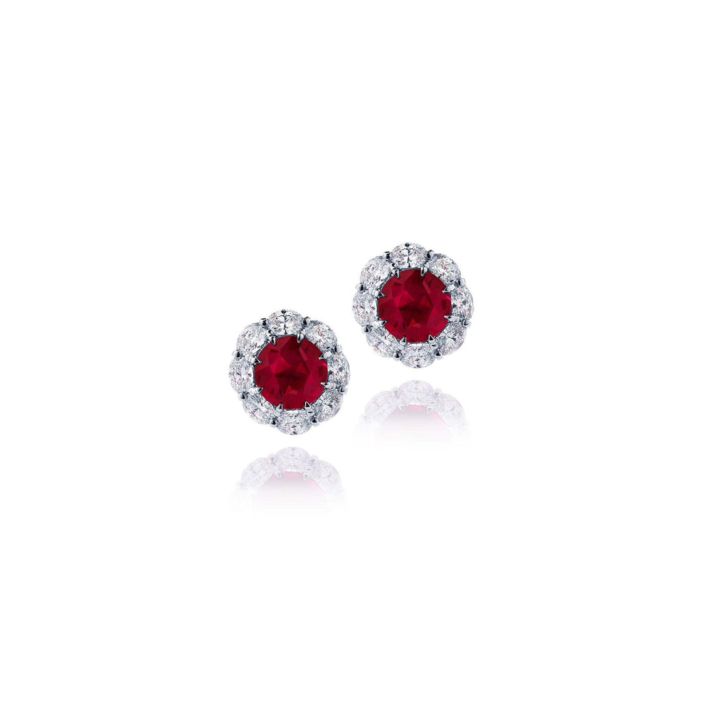 JB Star Ruby and Diamond Stud Earrings - 0779/050 - CH Premier Jewelers