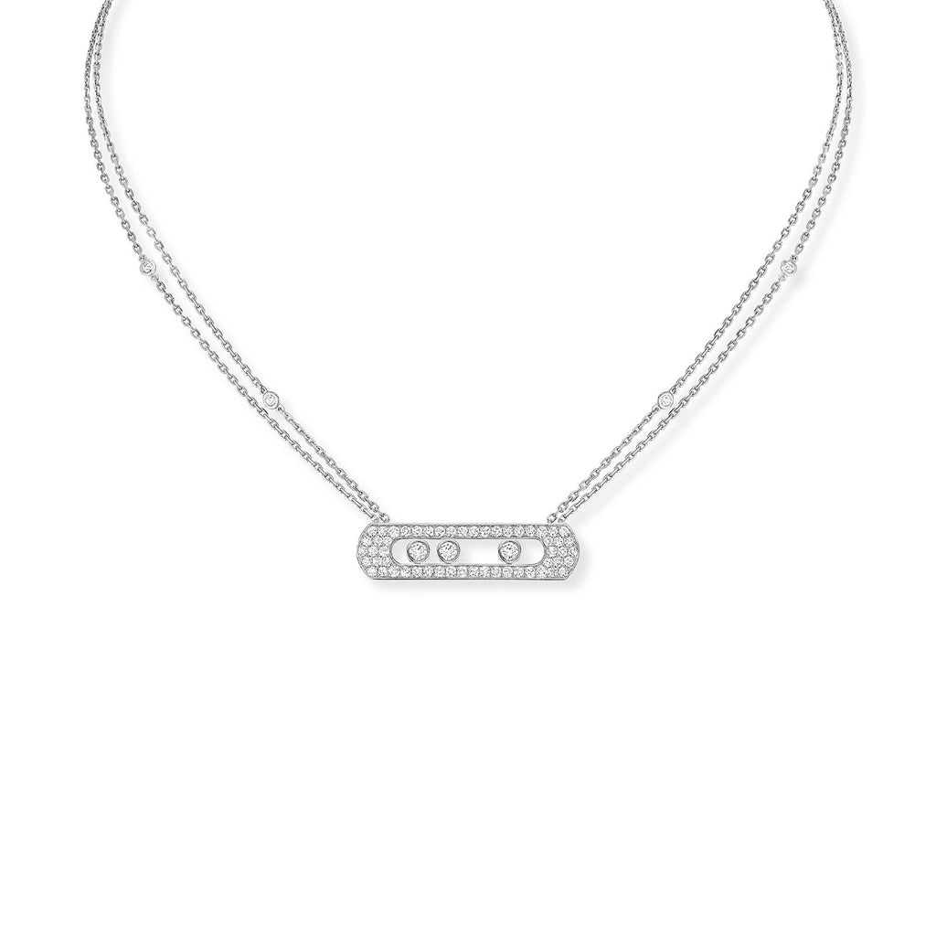 Messika Move Joaillerie Pavé Necklace - 5306W - CH Premier Jewelers