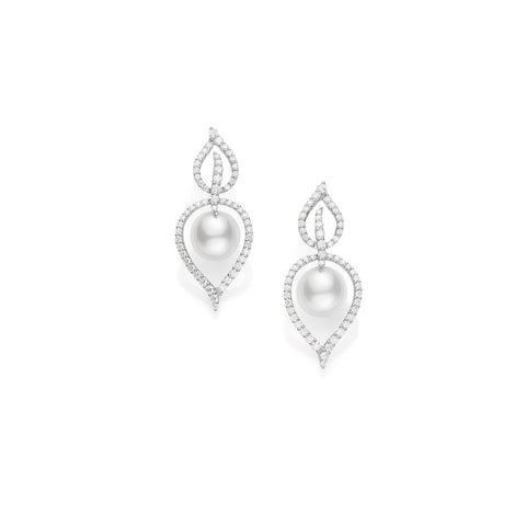 Mikimoto White South Sea Cultured Pearl Earrings - MEA10116NDXW - CH Premier Jewelers