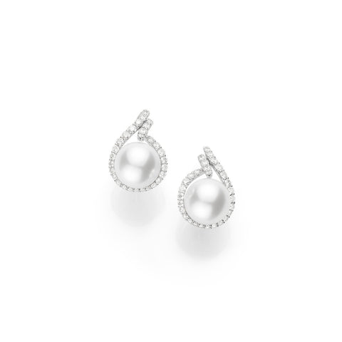 Mikimoto White South Sea Cultured Pearl Earrings - MEA10125NDXW - CH Premier Jewelers