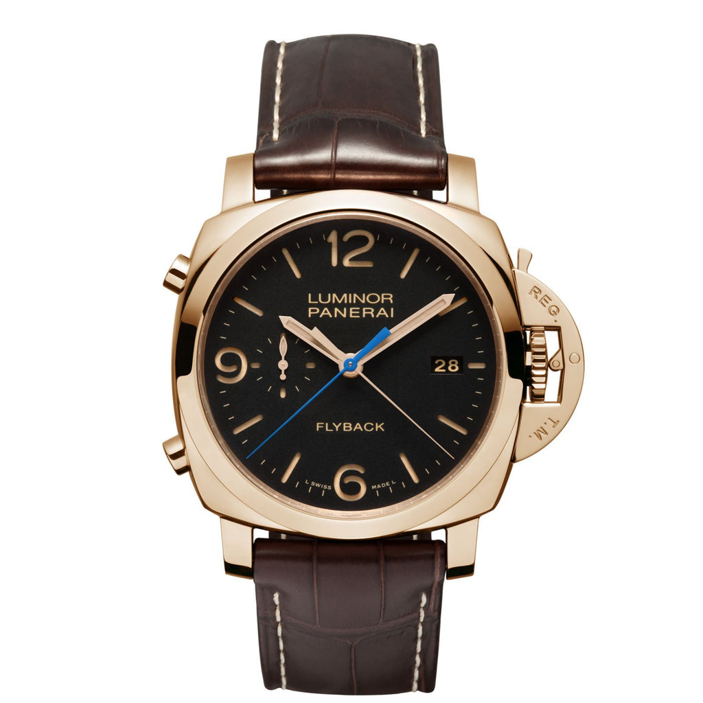 Panerai Luminor 1950 3 Days Chrono Flyback Automatic Oro Rosso - 44mm - PAM00525 - CH Premier Jewelers