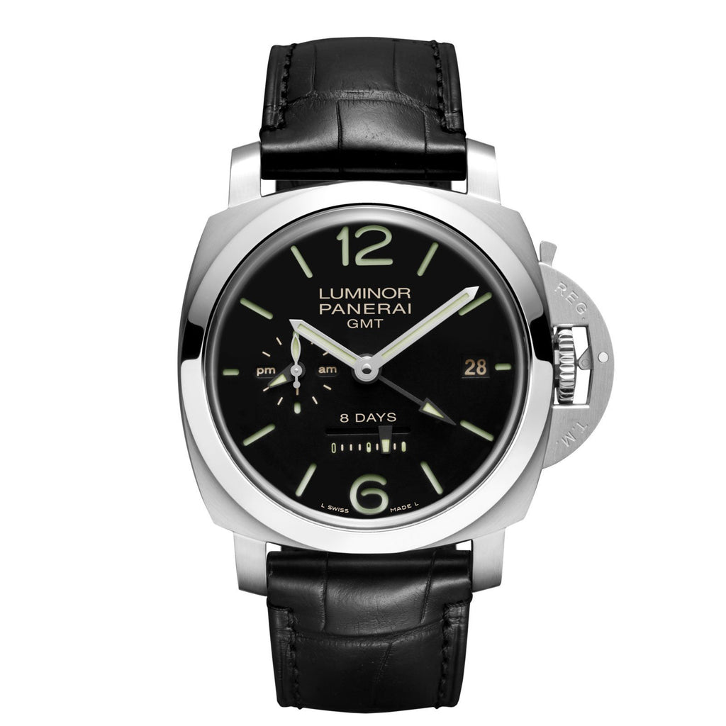 Panerai Luminor 1950 8 Days GMT Acciaio - 44mm - PAM00233 - CH Premier Jewelers