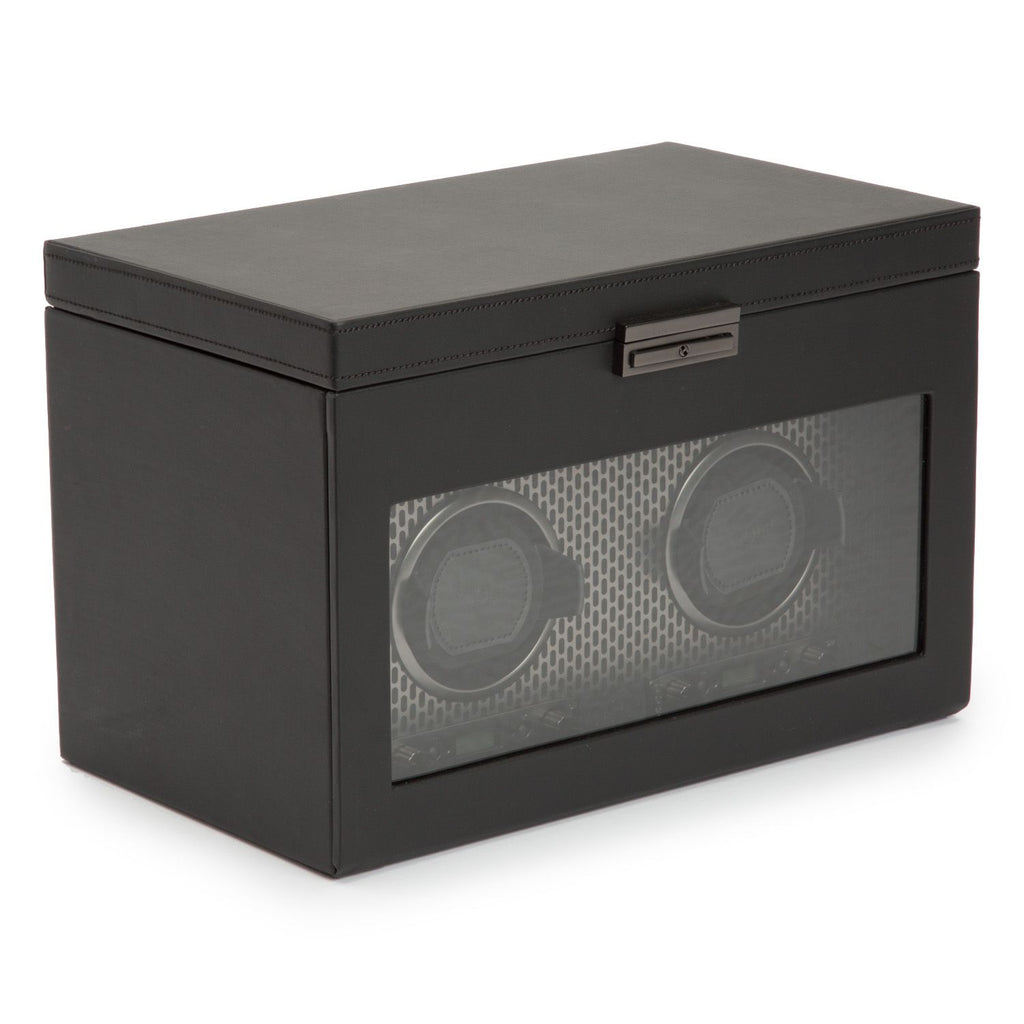 Wolf Axis Double Watch Winder with Storage