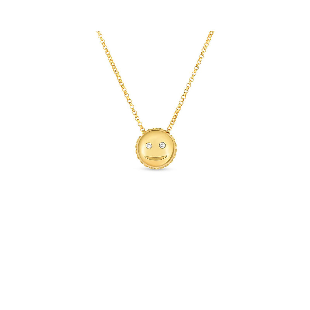 Roberto Coin Smiley Emoji Pendant -