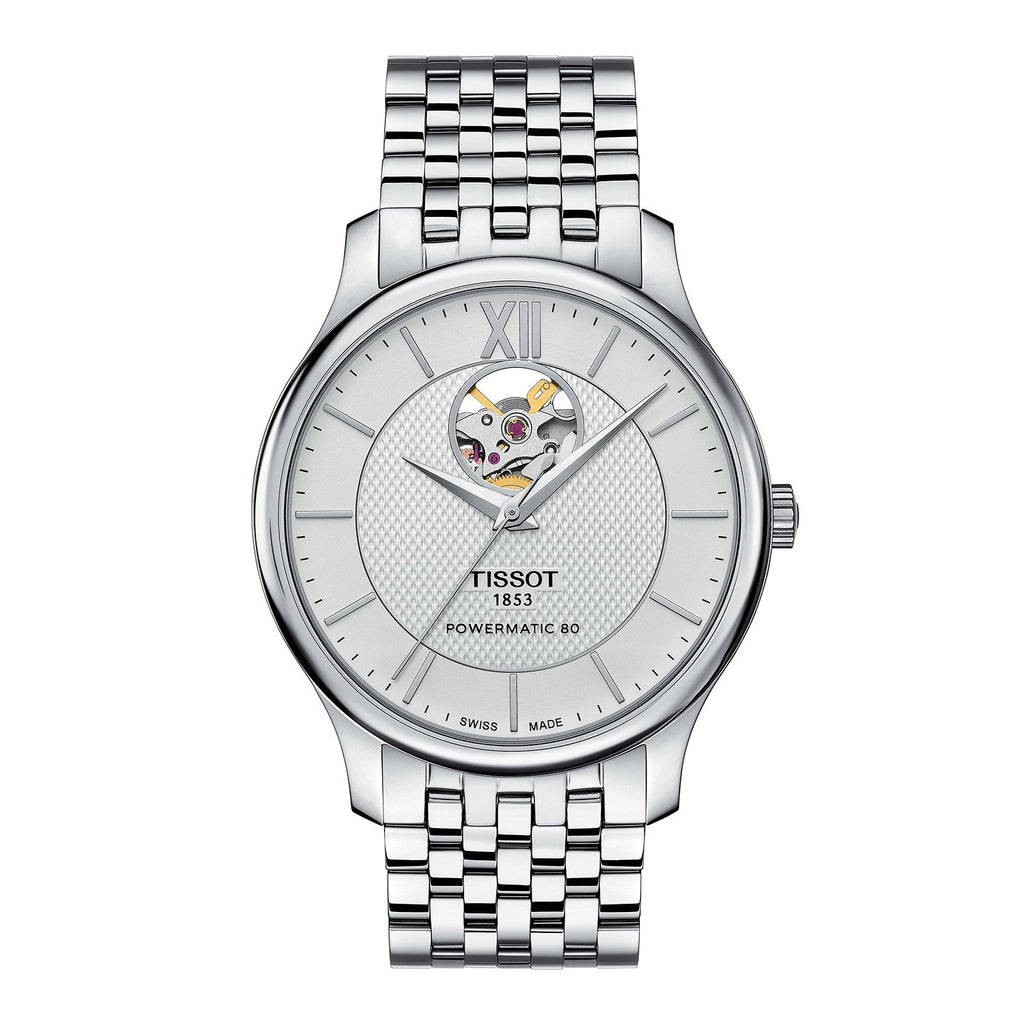 Tissot Tradition Powermatic 80 Open Heart - T0639071103800 - CH Premier Jewelers