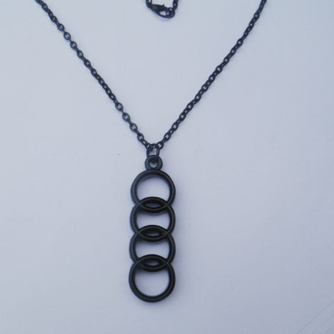 Audi black necklace