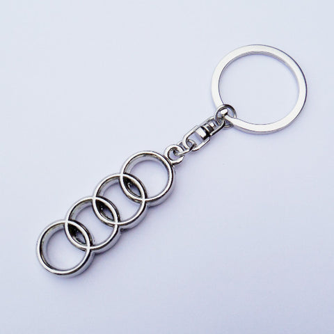 Audi chrome key ring
